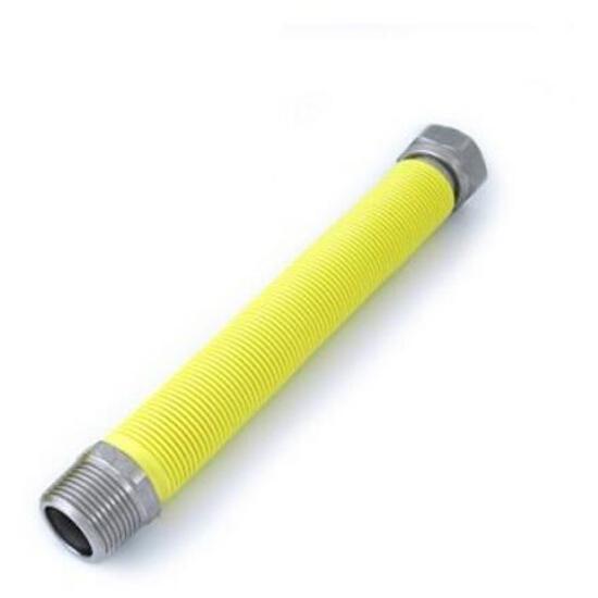 """Wąż elastyczny instalacyjny EMPIU 3/4"""" MF-FG (120-210mm) ze st. nierdz. do gazu Bisan"""
