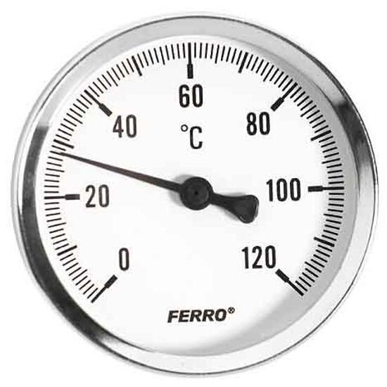 """Termometr 1/2"""" 0-120°C T100120A Ferro"""