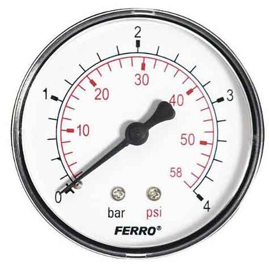 "Manometr 1/4"" 0-4bar M6304A Ferro"