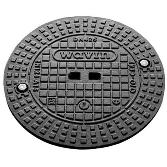 Pokrywa kanalizacyjna żeliwna A15/425 do rury trzonowej (2 rygle) Wavin