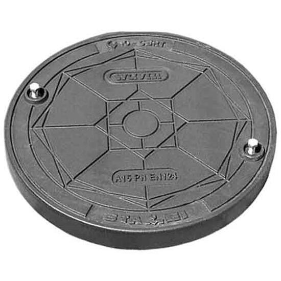 Wpust kanalizacyjny żeliwny D400/425 do rury tel. okrągły (2 śruby) Wavin