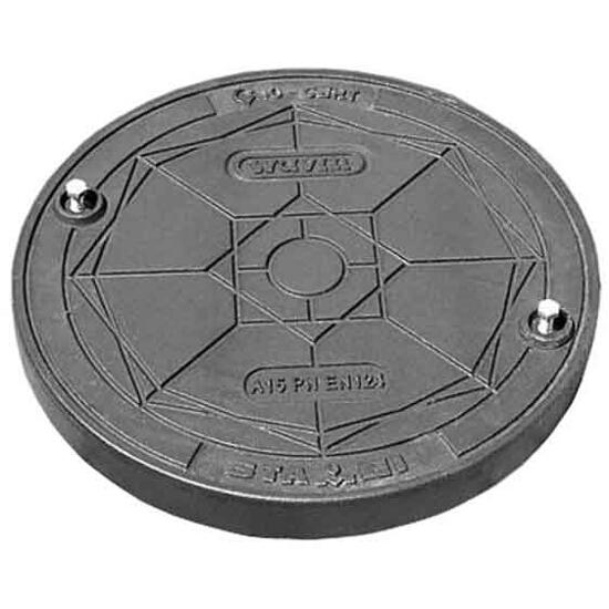 Wpust kanalizacyjny żeliwny D400/315 do rury tel. okrągły (2 śruby) Wavin