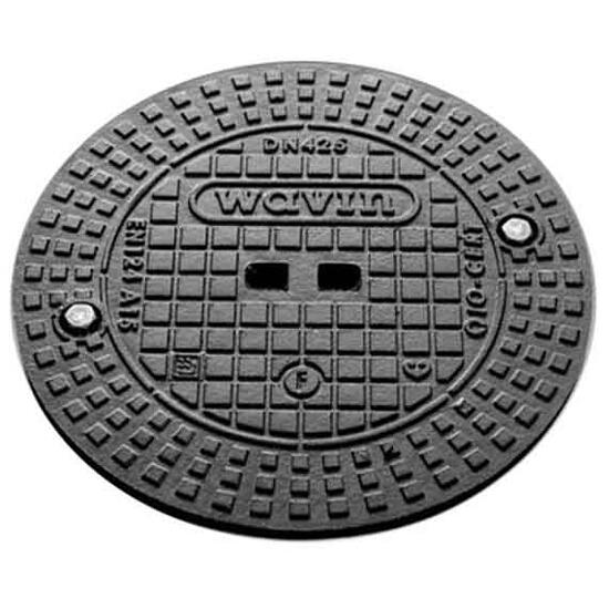 Pokrywa kanalizacyjna żeliwna A15/400 do rury trzonowej (1 śruba mocująca) Wavin
