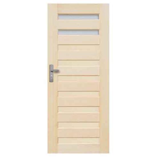 Drzwi sosnowe Regent przeszklone (2 szyby) 70 lewe Radex
