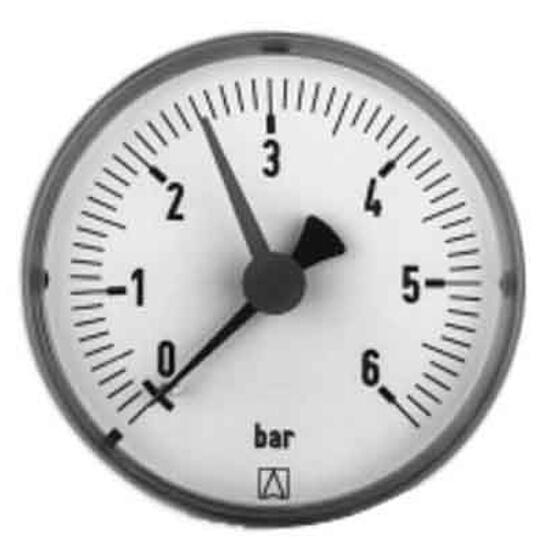 """Manometr grzewczy RF63 1/4"""" 0-6bar poziomy 63538 AFRISO"""