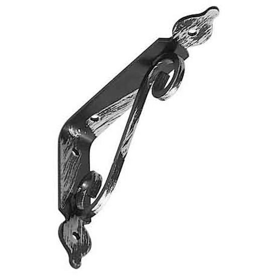 Wspornik ornamentowy kuty WOZ140 140x110mm antyk srebrny Domax