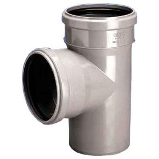 Trójnik kanalizacyjny PP wew. HT 40x40x87° popiel Wavin