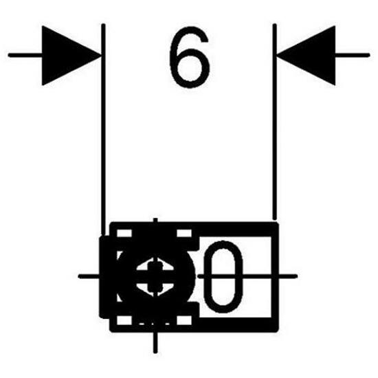Wsporniki dystansowe do montażu narożnego - ściana z płyty gipsowej / pełna 111.835.00.1 Geberit