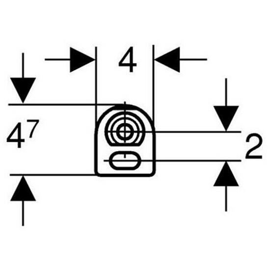 Wsporniki dystansowe - do szyn systemu DUOFIX 111.844.00.1 Geberit