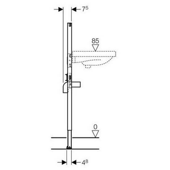 Stelaż do umywalki DUOFIX - dla baterii stojącej H112 111.430.00.1 Geberit