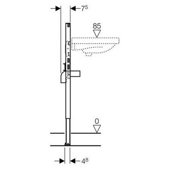 Stelaż do umywalki DUOFIX - dla baterii stojącej H98/82 111.485.00.1 Geberit