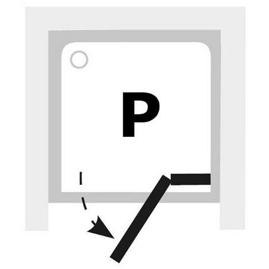 Elementy szklane drzwi prysznicowych BRILLIANT BSD2-90 A-P 0UP7AA00Z1 Ravak