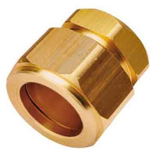 Zaślepka ZPH 18 mosiężna z pierścieniem conex 18 Kospel