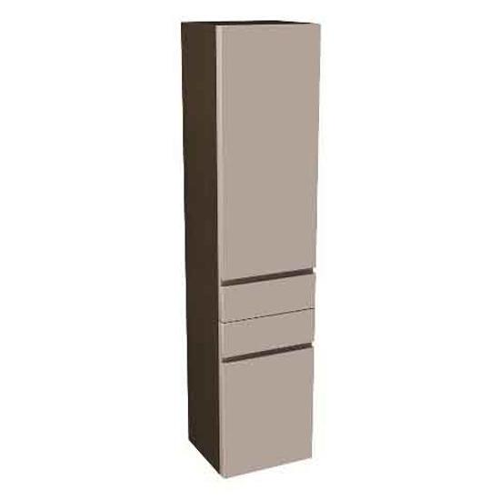 Front do szafki DOMINO wysokiej prawej z koszem na bieliznę 37x160x34cm cappuccino 88353000 Koło