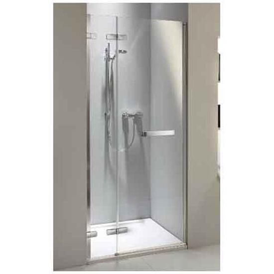 Drzwi prysznicowe NEXT wnękowe skrzydłowe 90cm z relingiem lewostronne Reflex HDRF90222R03L Koło