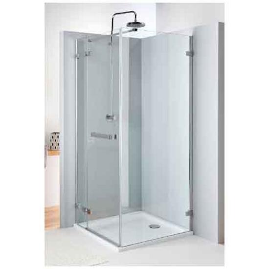 Drzwi prysznicowe NEXT skrzydłowe 100cm lewostronne z relingiem Reflex HDSF10222R03L Koło