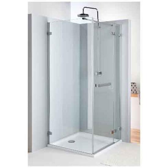 Drzwi prysznicowe NEXT skrzydłowe 80cm prawostronne z relingiem Reflex HDSF80222R03R Koło