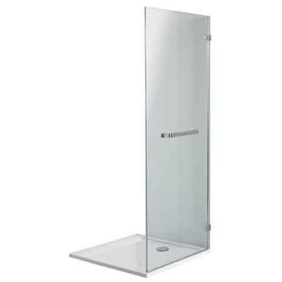 Ścianka prysznicowa boczna NEXT 80 z relingiem szkło hart. profil chrom HSKX80222R03 Koło