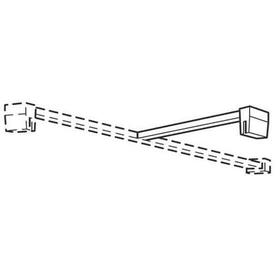 Wspornik ścianki bocznej typu Walk-In HSKB10003 Koło