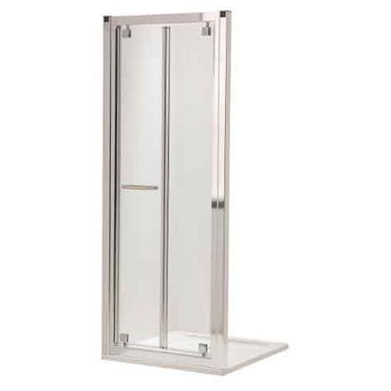 Drzwi prysznicowe GEO 6 wnękowe Bifold 90cm szkło przezroczyste Reflex GDRB90R22003 Koło