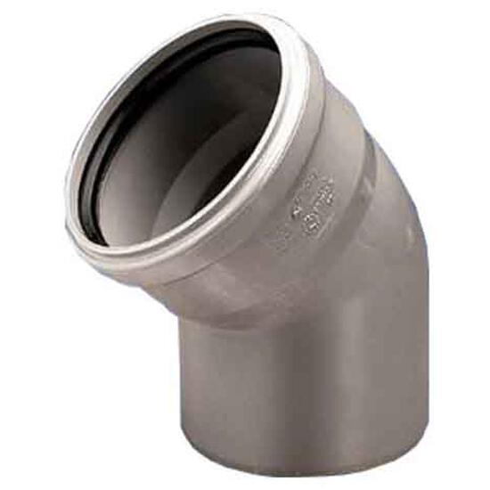 Kolano kanalizacyjne PP wew. 50x45° białe Wavin
