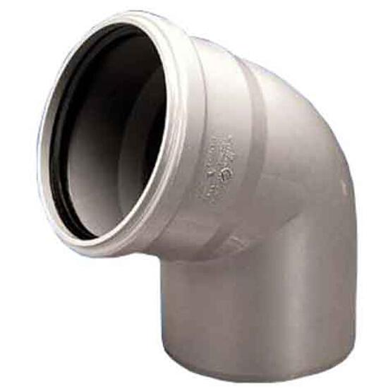 Kolano kanalizacyjne PP wew. 50x67° białe Wavin