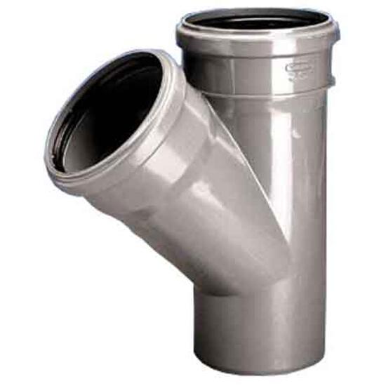 Trójnik kanalizacyjny PP wew. HT 110x75x45° redukcyjny popiel Wavin