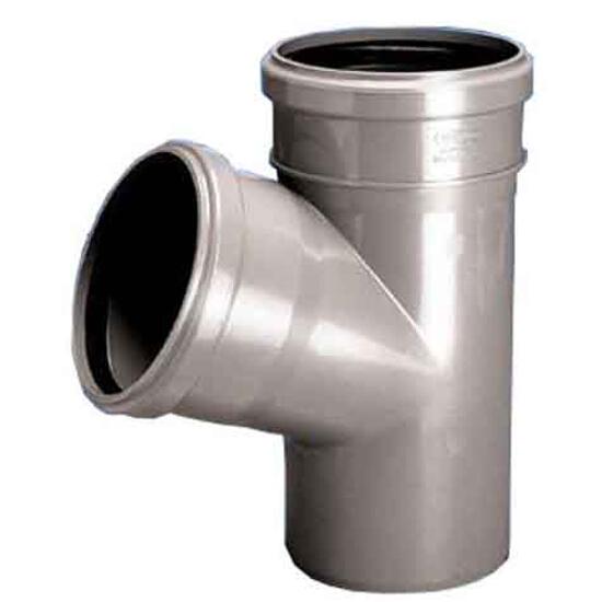 Trójnik kanalizacyjny PP wew. HT 110x75x67° redukcyjny popiel Wavin