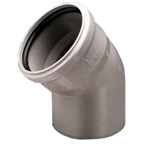 Kolano kanalizacyjne PP wew. 32x45° białe Wavin
