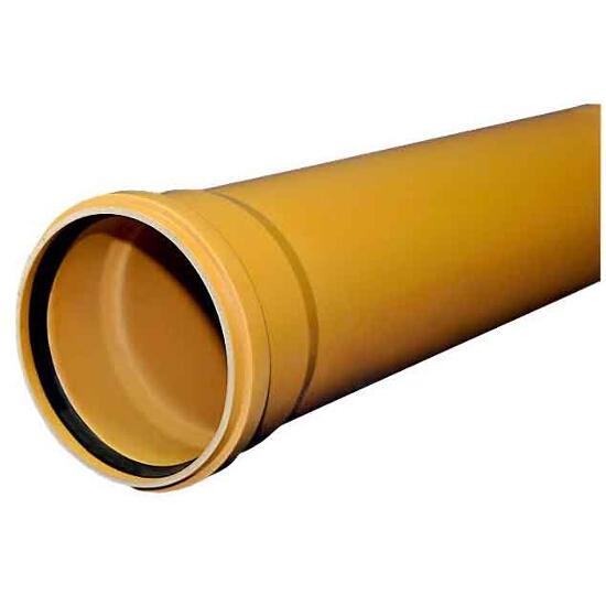 Rura kanalizacyjna zewnętrzna PVC KL.S lita 200x5.9x6000 PVC-U Wavin