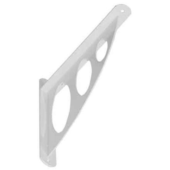 Wspornik ażurowy stalowy owalny WAO190 194x200x26mm biały Domax