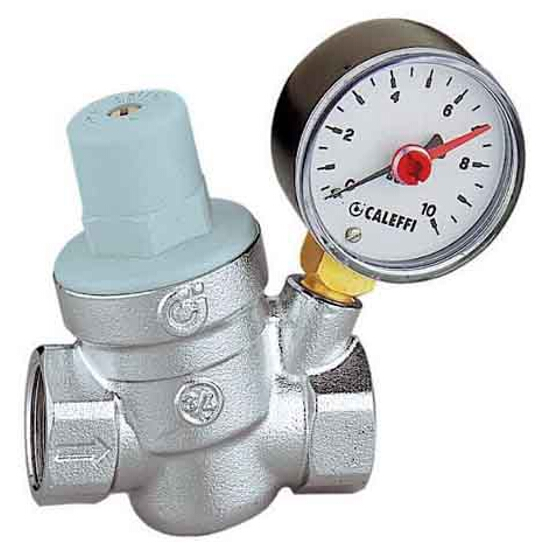 """Reduktor ciśnienia z manometrem 3/4"""" gw/gw Caleffi"""