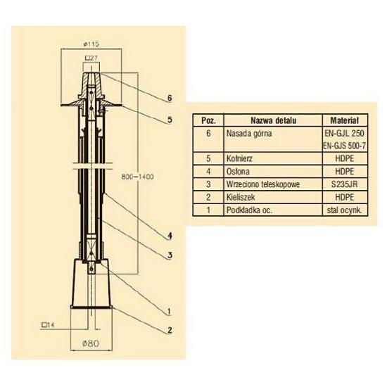 Obudowa do nawiertki teleskopowa GZ 800-1400 Bohamet