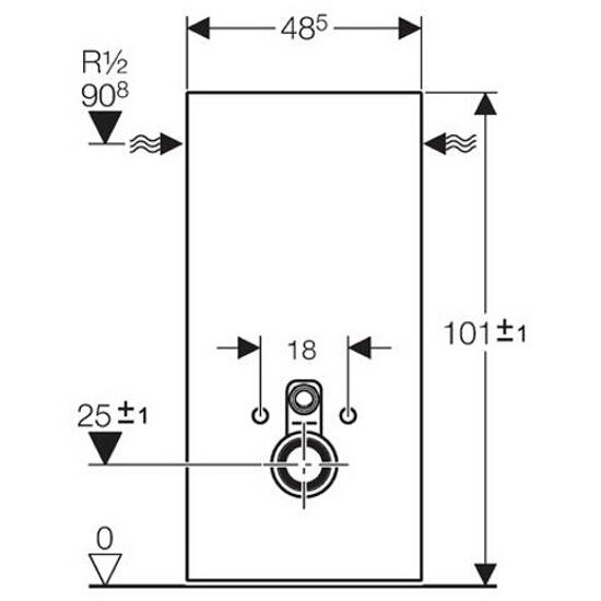 Stelaż MONOLITH do WC wiszących szkło czarny / aluminium 131.022.SJ.1 Geberit