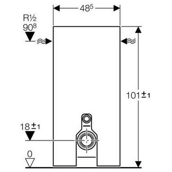 Stelaż MONOLITH do WC stojących szkło czarne / aluminium 131.004.SJ.1 Geberit