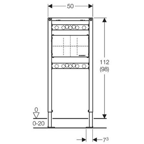 Stelaż do umywalki DUOFIX - do baterii podtynkowej H112 111.780.00.1 Geberit
