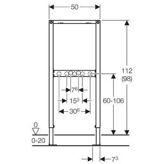 Stelaż do umywalki DUOFIX - do baterii natynkowej H112 111.740.00.1 Geberit