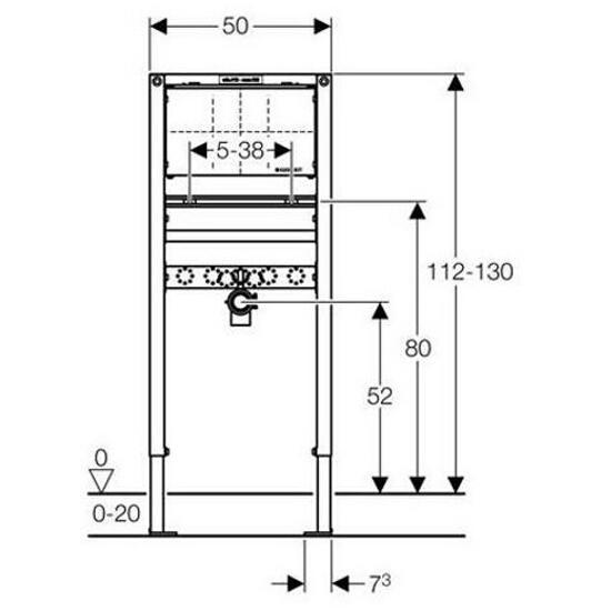 Stelaż do umywalki DUOFIX - dla baterii podtynkowej H112-130 111.493.00.1 Geberit
