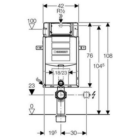 Stelaż do WC KOMBIFIX Super - UP320, Sigma H108 110.300.00.5 Geberit