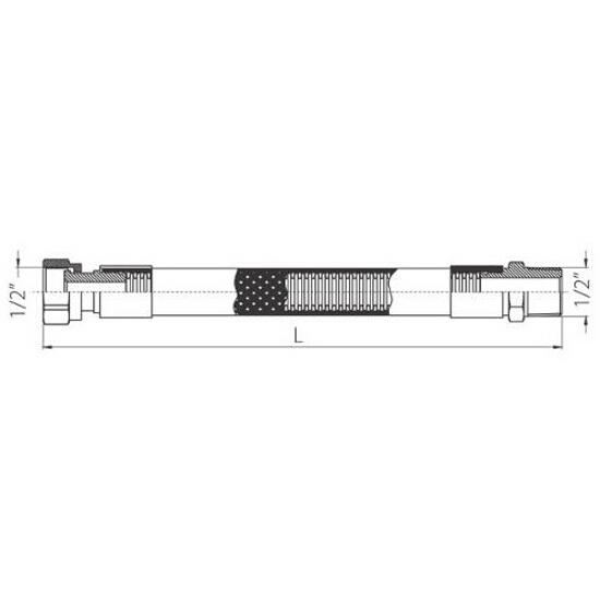 """Wąż elastyczny instalacyjny 1/2"""" 1000mm gw/gw Ferro"""