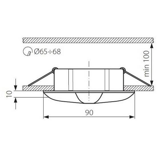 Oprawa punktowa sufitowa MIKA CTX-42+B2-SN/N Kanlux