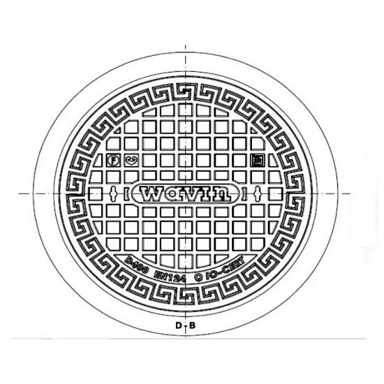 Właz kanalizacyjny DN600 H115 NW D400 bez zamka Wavin