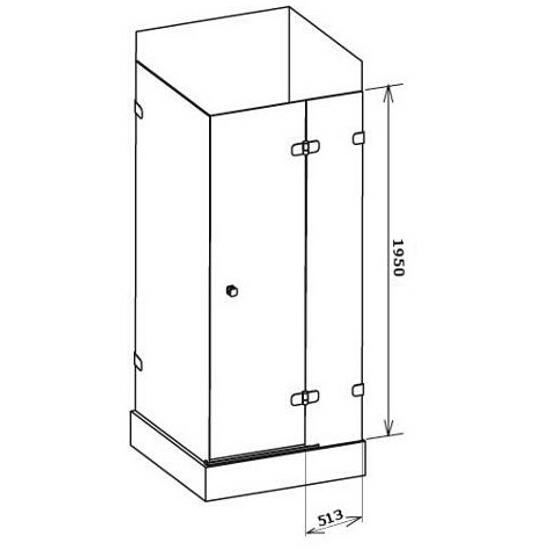 Elementy szklane kabiny prysznicowej BRILLIANT BSDPS-120/90 prawej 0UPG7A00Z1 Ravak