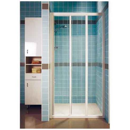 Drzwi prysznicowe SUPERNOVA ASDP3-80 profil biały, szkło transparentne 00V40102Z1 Ravak