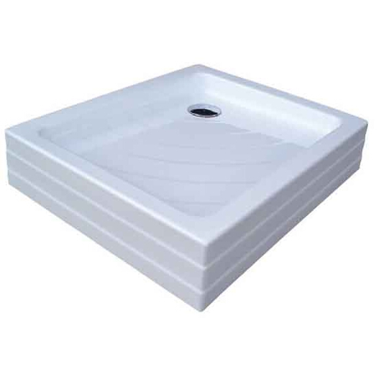 Brodzik prostokątny ANETA 75x90 PU KASKADA biały A003701120 Ravak