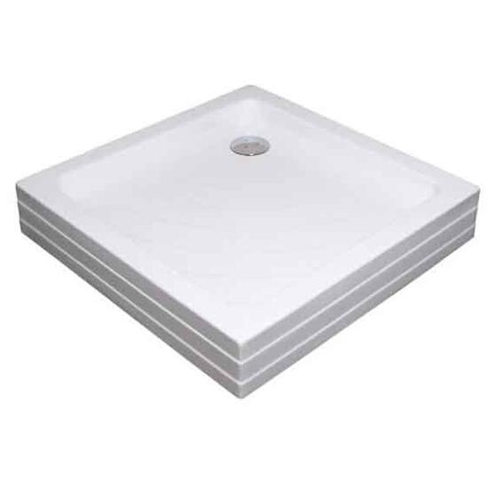 Brodzik kwadratowy ANGELA 90 PU KASKADA biały A007701120 Ravak