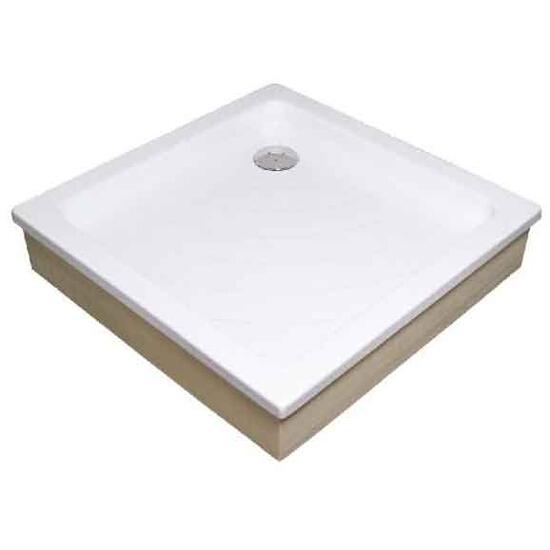 Brodzik kwadratowy ANGELA 90 EX KASKADA biały A007701320 Ravak