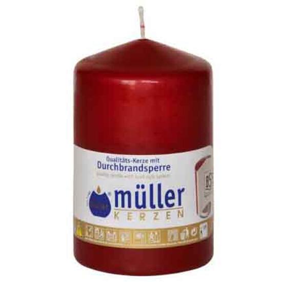 Świeca walec 110x70mm kolor wina Muller