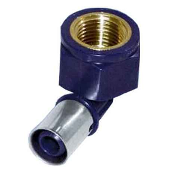"""Kolano zaciskowe GW 20x1/2"""" PPSU c/z woda montażowe ścienne Wavin"""