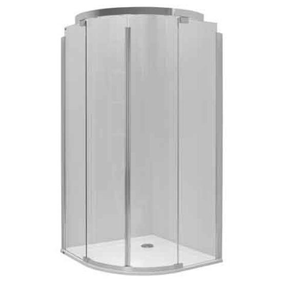Kabina prysznicowa półokrągła S600 90x90cm szkło hartowane, GlasPlus JKPG90222001 Koło